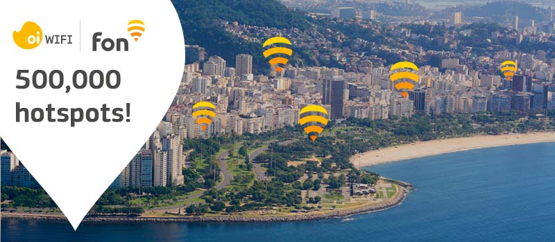 Oi and Fon hit 500k hotspots in Brazil | Fon