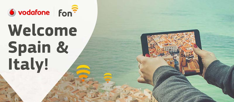 Vodafone Spain & Italy join Fon's global WiFi network