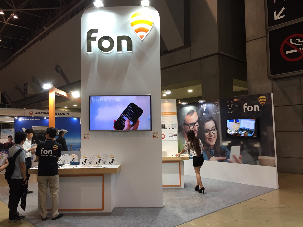Inbound Japan Fon booth tourism WiFi2016 | Fon
