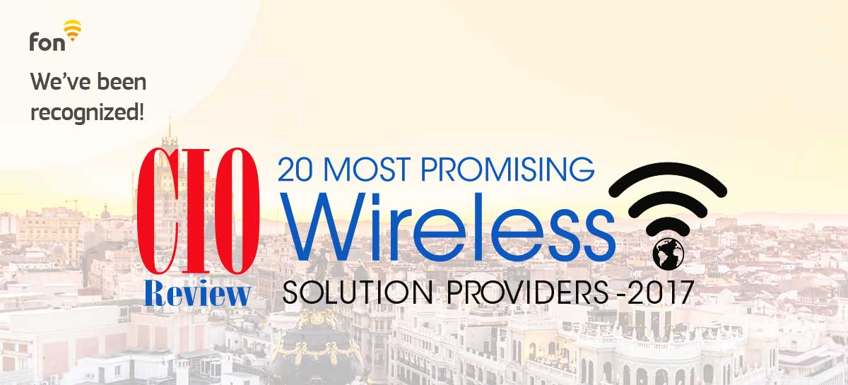 Fon ranked a top 20 most promising wireless solution provider