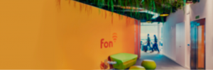 Fon office entrace with logo | Fon