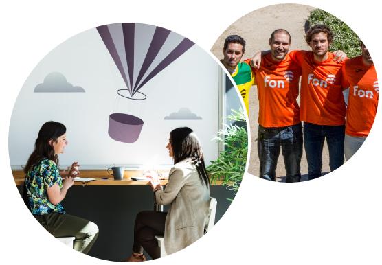 Multicultural environment, Modern offices, all star team | Fon