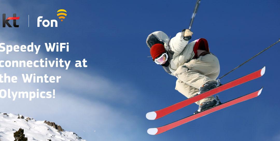 Fon partner KT showcasing new, ultra-fast WiFi at Winter Olympics