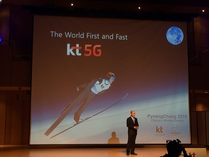 KT presenting 5G WiFi for the Winter Olympics