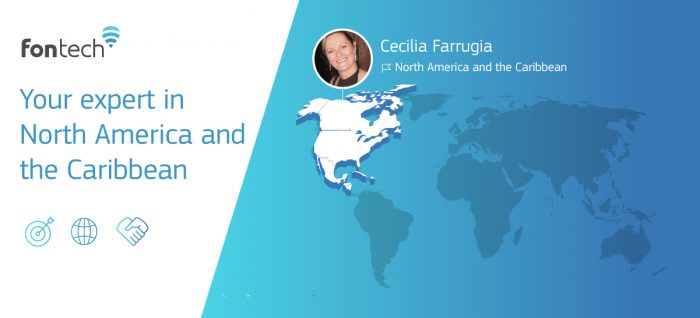 Cecilia Ferrugia, Fontech's sales representative in North America