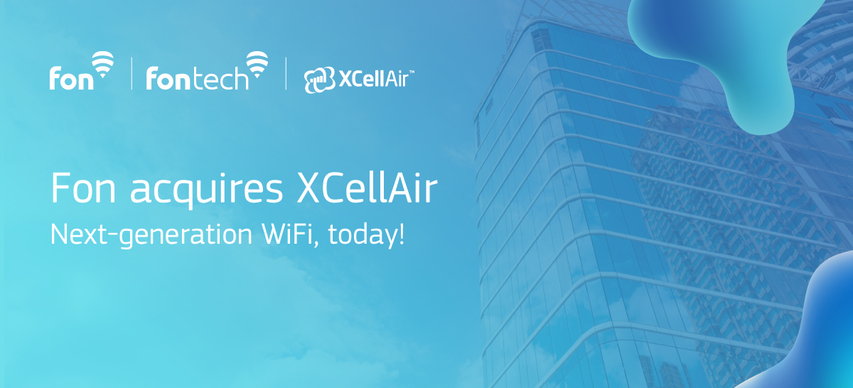 "Image with copy ""Fon acquires XCellAir"""
